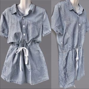 Lucky Brand NWT Tie Waist Shirt Dress Large